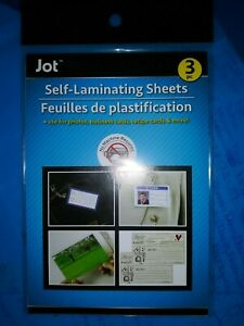 Easy Self Laminating Sheets 4x6 No Tools Needed Free Ship For Id Card 3 Pack Jot