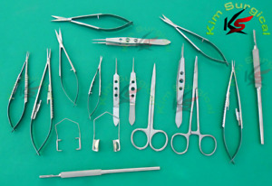 20pcs Eye Micro Minor Surgery Set Ophthalmic Veterinary Surgical Instruments Kit