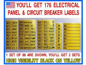 176 Circuit Breaker Electrical Panel Box Labels Identify All Your Circuits