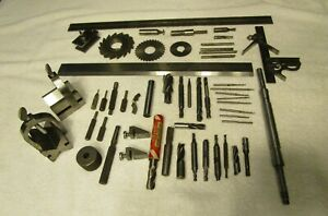 Vintage Lot Of Machinist metalworking Tools Cutters Mills Gages Equipment