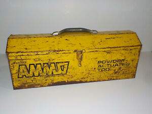 Usm Corporation Ammo Powder Actuated Tool Box Metal With Tray