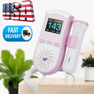 Us Pocket Fetal Doppler Lcd Heart Rate Monitor Pregnancy gel Fast Us Ship Fda Ce