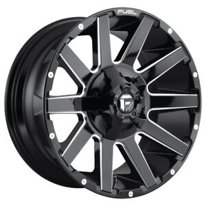 4 New 20x9 Fuel Contra Gloss Black Milled 8x165 1 D61520908257