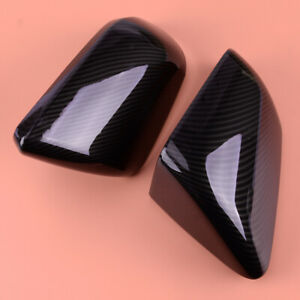 Fit For Ford Mustang 2015 Carbon Fiber Style Side Rearview Mirror Cover Trim