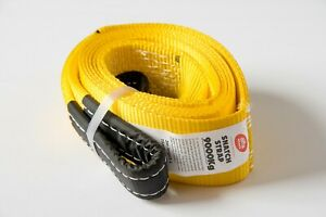 Yellow2 9t 3 20000lbs Tow Strap 3x10ft Winch Tree Saver Protector Offroad Truck