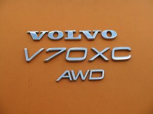 01 07 Volvo V70 Xc V70xc Xcv70 Awd Rear Chrome Emblem Logo Badge Sign Set A7433