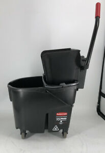Rubbermaid 1863896 Executive Black Wavebrake 35 Quart Mop Bucket