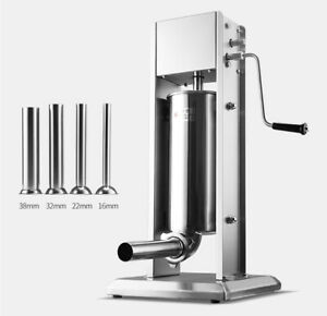 7l Commercial Sausage Stuffer Manual Stainless Steel Sausage Meat Maker