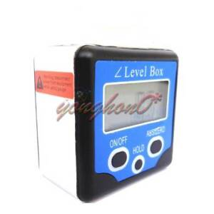 Digital Level Box Gauge Angle Protractor Inclinometer Magnetic Base 0 360 Blue