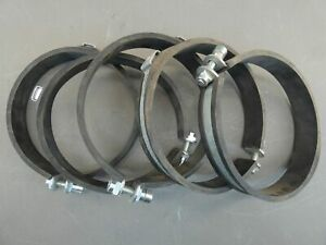 Lot Of 5 jacob 177 7 Id 7 5 Od Pipe Clamp For Ceiling mounting W Rubber I