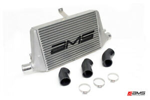 Ams Performance Front Mount Intercooler W Logo For 03 07 Misubishi Evo Viii Ix