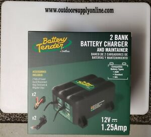 Battery Tender 2 bank Battery Charger 2 Bank Marine Battery Charger Maintainer