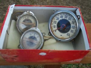 Vintage Auto Parts Used 38 Chevy Pick Up Truck Instruments Gauges