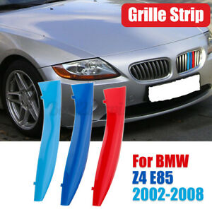 For Bmw Z4 E85 2002 2008 M Color Front Kidney Grill Grille Cover Clip Trim