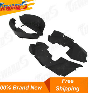 Front And Rear Inner Fender Liners Protection For 07 17 Jeep Wrangler Jk Jku 4wd