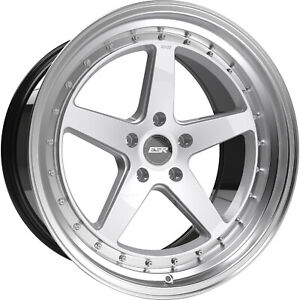 Esr Cs5 18x8 5 30 And 18x9 5 35 5x114 3 Staggered Set Of 4 Hyper Silver