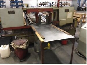 Hem Saw Model 1500m Heavy Duty 20 Round X 25 Wide Horizontal Band Saw 10 Hp