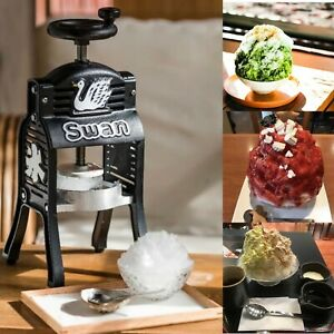 Swan Black Snow Cone Hawaiian Shave Ice Maker Manual Cast Iron Courier Shipment