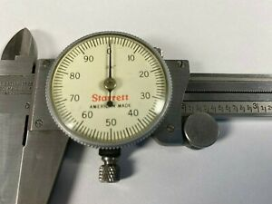 Starrett 120 Dial Caliper 0 6 White Dial Face And Red Case Made In Usa