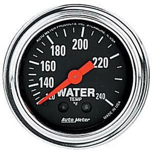 Auto Meter 2432 Traditional Chrome Mechanical Water Temperature Ga