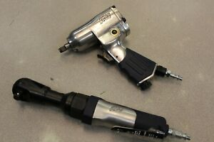 Campbell Hausfeld 3 8 Air Ratchet 3 8 Impact Wrench Pneumatic Set