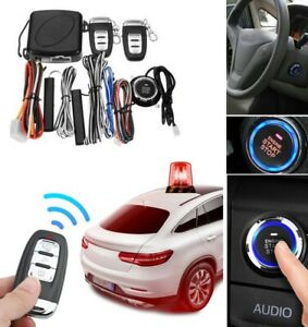 Start Push Button Remote Starter Keyless Entry Car Suv Alarm System Engine Set
