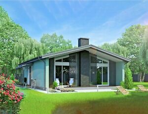 1409 Sq ft Prefab Timber Frame Kit Engineered Wood House Diy Building Cabin Home