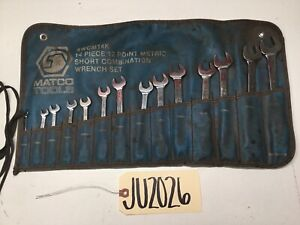 Matco Tools 14 Piece 12 Point Metric Short Combination Wrench Set Swcm14k