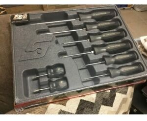 Snap On Tools 100th Anniversary Screwdriver Set 8 Piece In Tray New Snap on Tool
