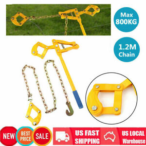 Heavy Duty Farm Fence Strainer Plain Barbed Fencing Repair Wire Tool 1 2m Chain