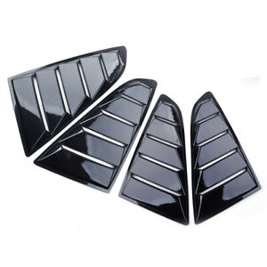 2pcs Side Car Window Louver Vents Cover 1 4 Quarter Fit For Ford Mustang 2015 17