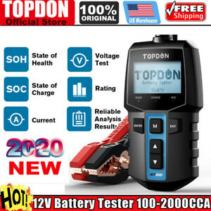 Automotive 12v Car Battery Load Tester Cranking Charging Battery Analyzer Tool