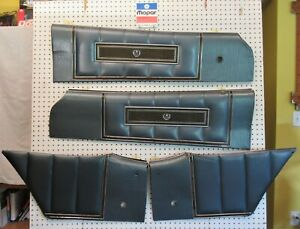 1971 71 1972 72 Dodge Charger Se Upper Door Panels Set Of 4 In Gunmetal