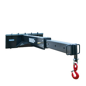 Titan Attachments Adjustable Skid Steer Industrial Crane Jib Attachment With 3 t