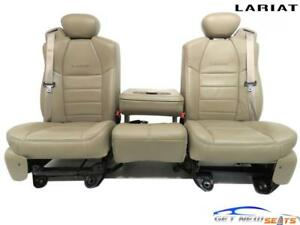Ford Super Duty F250 F350 Tan Leather Front Seats Lariat Supercab 2002 2007