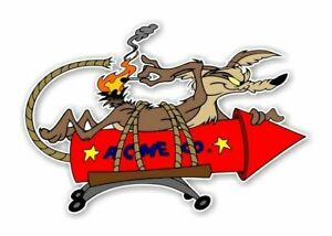 2 Pack Wile E Coyote Funny Rat Rod Hot Rod Vintage Racing Rat Fink Sticker