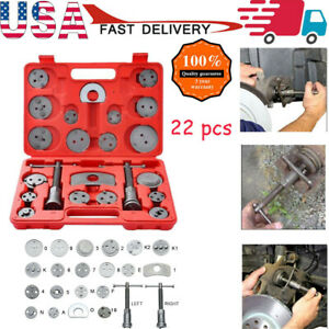 22pcs Heavy Duty Disc Brake Caliper Tool Set Wind Back Kit For Brake Pad Us