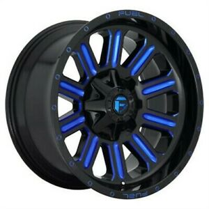 4 New 20x10 Fuel Hardline Gloss Black Blue Tinted Clear 5x139 7 D64620007047