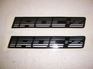 Rocker Panel Decals 1988 90 Camaro Iroc Z Silver Black Ci6041 2