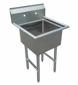 One 1 Compartment Sink Size Bowl 15 X 15 18 X 18commercial Nsf Approved