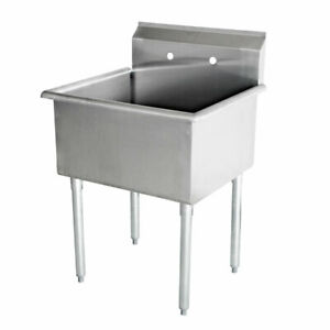 New Commercial Stainless Steel 18 X 18 1 One Compartment Budget Sink 18 Ga