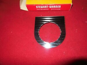 Nos Vintage Stewart Warner 2 1 8 Single Gauge Panel Trog Scta Gasser Roadster