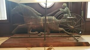 19th Century Copper Weathervane Horse And Gentleman Jockey