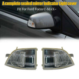 Car Wing Mirror Indicator Turn Signal Light Cover Case For Ford Focus C Max