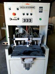 Dowel Insertion Machine Accu Systems 3 Heads Woodworking Machinery Cabinets