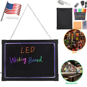 Led Message Menu Writing Sign Board Flashing Illuminated Erasable Neon