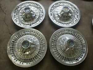 1966 1967 Ford Galaxie 15 Wire Hubcaps Set Of 4 Oem Hollander 621