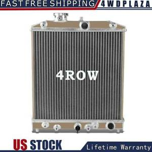 4 Row Aluminum Radiator For 92 00 Civic Eg Ek del Sol integra B16 B18 D15 D16 98