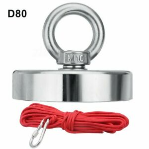 500kg Super Strong Salvage Magnet Pot Deep Sea Salvage Fishing Hook 10m Rope