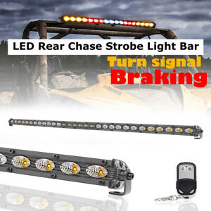 30inch Rear Work Light Bar Sing Row Super Slim Warning Beacon Chase Off Road Atv